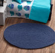 Dollhouse Miniature Navy Blue Rug