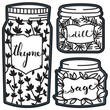 Labeled Spice Jars Die Cuts