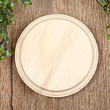 Unfinished Wood Circle Plaque