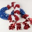 Patriotic Tinsel Heart Wreath