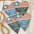 'Proud of Our...' Military Heart Ornament Set