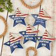 'Proud of Our...' Military Star Ornament Set