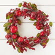 Artificial Apple and Berry Wreath