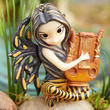 Lyre Playing Fantasy Fairy Figurine