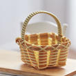 Dollhouse Miniature Square Basket