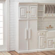 Dollhouse Miniature White Kitchen Refrigerator with Cabinet
