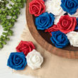 Patriotic Red White and Blue Artificial Rose Heads