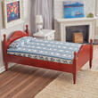Dollhouse Miniature Mahogany Single Bed
