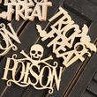 Unfinished Wood Laser Cut Halloween Cutouts