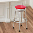 Dollhouse Miniature 1950's Style Red Stool