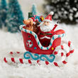 Mini Christmas Santa in Candy Cane Sleigh