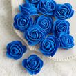 Royal Blue Artificial Rose Heads