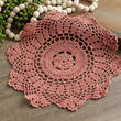 Rose Round Crocheted Doily
