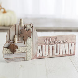 'Welcome Autumn' Tabletop Decor