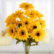 Yellow Artificial Spider Daisy Bush