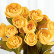 Yellow Artificial Ranunculus Bush