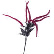 Artificial Flocked Magenta Halloween Spray