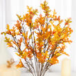 Artificial Autumn Mini Oak Leaf Spray