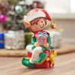 Miniature Christmas Elf with Gift Box