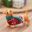 Miniature Christmas Dachshund Dog