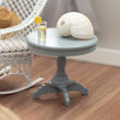 Gray Miniature Victorian Pedestal End Table