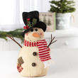 Rustic Weighted Christmas Snowman