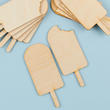 Unfinished Wood Popsicle Cutouts