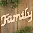 "Unfinished Wood ""Family"" Cutout"