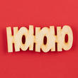 "Unfinished Wood ""HOHOHO"" Cutout"