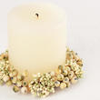 Cream and Light Green Pip Berry Candle Ring