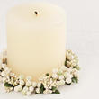 White Pip Berry Candle Ring