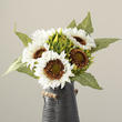 White Artificial Sunflower Bouquet