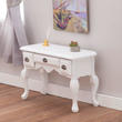 Dollhouse Miniature Accent Table with Pewter Hardware