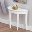 Dollhouse Miniature White Side Table
