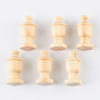 Dollhouse Miniature Unfinished Urn Finials Set