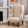 Dollhouse Miniature Burlap Chair
