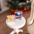 Dollhouse Miniature Santa Christmas Tin Cookies