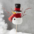 Sequined Snowman Pick