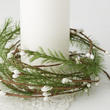 Artificial Pine and Pip Berry Candle Ring