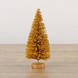 Gold Glittered Bottle Brush Tree