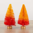 Candy Corn Bottle Brush Trees
