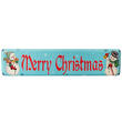"Vintage Look ""Merry Christmas"" Snowman Tin Sign"