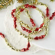 Red and Gold Teardrop Garland