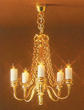 Dollhouse Miniature 5 Up-Arm Chandelier