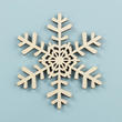 Laser Cut Unfinished Wood Snowflake