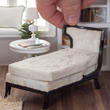 Dollhouse Miniature Ivory Upholstered Chaise