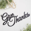 "Finished Wood ""Give Thanks"" Cutout"