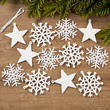 Iridescent Stars and Snowflakes Ornaments