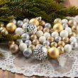 Floral Filler Ornament Ball Assortment