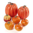 Bulk Case of 168 Assorted Harvest Orange Artificial Pumpkins